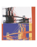 Brooklyn Bridge, 1983 (black bridge/white background) Prints by Andy Warhol
