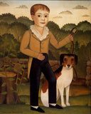 Junge mit Hund Kunstdrucke von Charles Christian Nahl