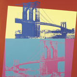 Brooklyn Bridge, 1983 (blue bridge/yellow background) Láminas por Andy Warhol