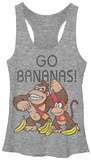 Juniors Tank Top: Donkey Kong- Go Bananas Womens Tank Tops