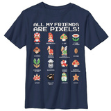 Youth: Super Mario Bros- Pixel Friends Shirt