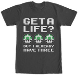 Super Mario Bros- Three Lives T-Shirt