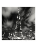 Burj Kahlifa at Night, Study 1, Dubai, UAE Prints by Marcin Stawiarz