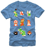 Super Mario Bros- 8-bit Crew Shirts