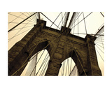 Brooklyn Bridge II (sepia) Posters by Erin Clark