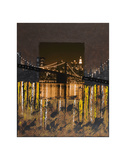 Brooklyn Bridge at Night Prints by Mauro Baiocco