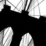Brooklyn Bridge Silhouette (detail) Prints by Erin Clark