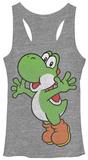 Juniors Tank Top: Super Mario Bros- Yoshi Hug Damestanktops