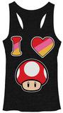 Juniors Tank Top: Super Mario Bros- I Heart Podkoszulek
