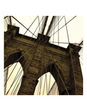 Brooklyn Bridge II (sepia) (detail) Prints by Erin Clark