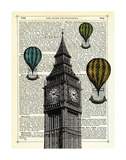 Big Ben & Balloons Posters by Marion Mcconaghie