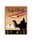Mit dem Flugzeug nach Kairo Poster von Brian James
