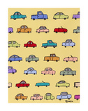 Cars Yellow Posters by Brian Nash
