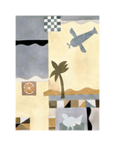 Checkerboard Travel I Prints by Muriel Verger