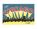Chicago skyline Plakater af Vintage Reproduction