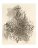 Chandelier Sepia Prints by Amy Dixon