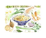 Chicken Soup Recipe Prints by Lucile Prache