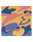 Camouflage, 1987 (pink, purple, orange) 高画質プリント : アンディ・ウォーホル
