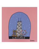Chicago Snow Globe Prints by Brian Nash