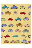 Cars Yellow Prints by Brian Nash
