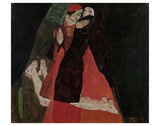 Cardinal and Nun (Caress) Prints by Egon Schiele