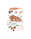 Cherry Clafoutis Posters by Lucile Prache