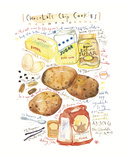 Chocolate Chip Cookies Recipe Prints by Lucile Prache