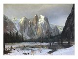 Cathedral Rock Yosemite Prints by Albert Bierstadt
