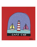 Cape Cod Snow Globe Print by Brian Nash