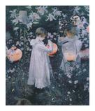 Carnation, Lily, Lily, Rose Posters af John Singer Sargent