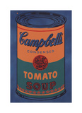 Colored Campbell's Soup Can, 1965 (blue & orange) Stampa giclée di Andy Warhol