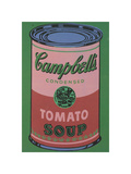 Colored Campbell's Soup Can, 1965 (red & green) Giclee Print by Andy Warhol