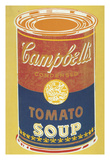 Colored Campbell's Soup Can, 1965 (yellow & blue) Giclee Print by Andy Warhol