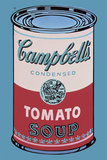 Colored Campbell's Soup Can, 1965 (pink & red) Posters by Andy Warhol