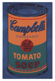 Colored Campbell's Soup Can, 1965 (blue & orange) Prints by Andy Warhol