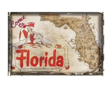Come to Florida Prints by  Vintage Vacation