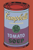 Colored Campbell's Soup Can, 1965 (blue & purple) 高画質プリント : アンディ・ウォーホル