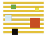 Color Block on Stripe Art by Dan Bleier