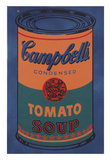 Colored Campbell's Soup Can, 1965 (blue & orange) Posters by Andy Warhol