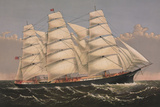 "Clipper Ship ""Three Brothers"", ca. 1875 Art by  Currier & Ives"