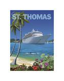Cruise St. Thomas Print by Kem Mcnair