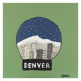Denver Snow Globe Giclee Print by Brian Nash