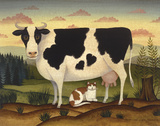 Cow and Cat Posters by Diane Ulmer Pedersen