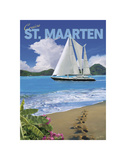 Cruise St. Maarten Prints by Kem Mcnair