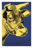 Cow, 1971 (blue & yellow) Poster di Andy Warhol