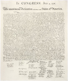 Declaration of Independence Prints by  Congress