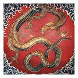 Dragon Kunst af Katsushika Hokusai