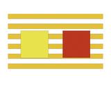 Double Block on Stripe Art by Dan Bleier
