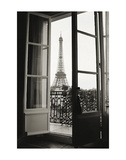 Eiffel Tower through French Doors Poster af Christian Peacock