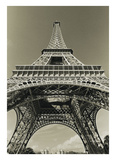 Eiffel Tower Looking Up Print by Christian Peacock